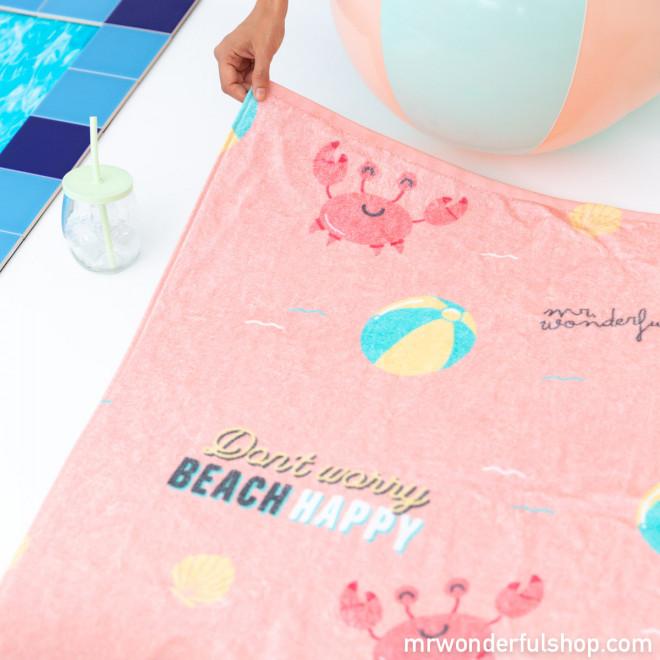 Toalha de praia - Don't worry beach happy