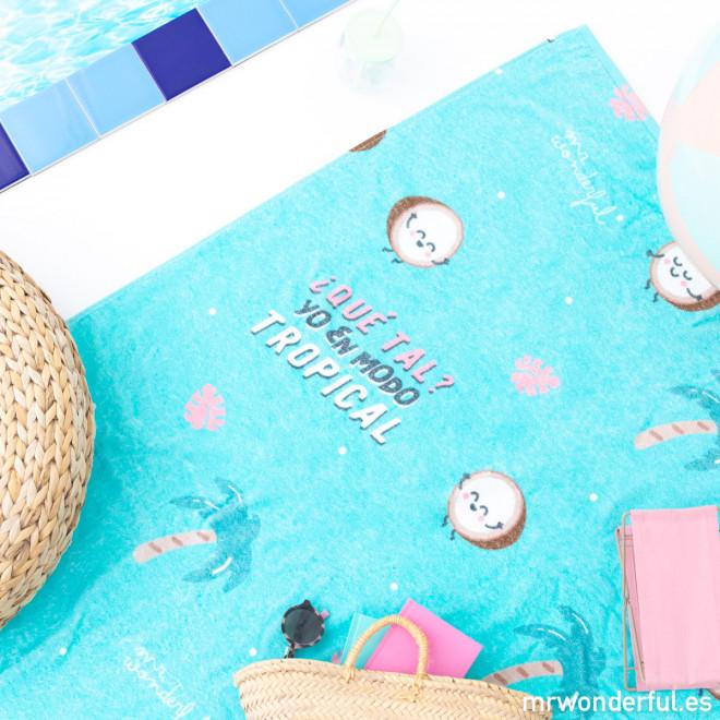 Toalha de praia - Yo en modo tropical