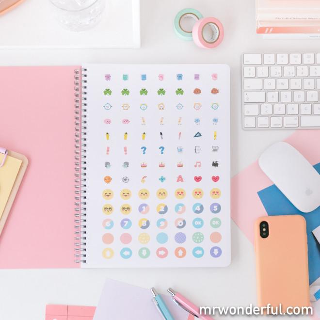 Caderno - As minhas ideias são bem redondinhas