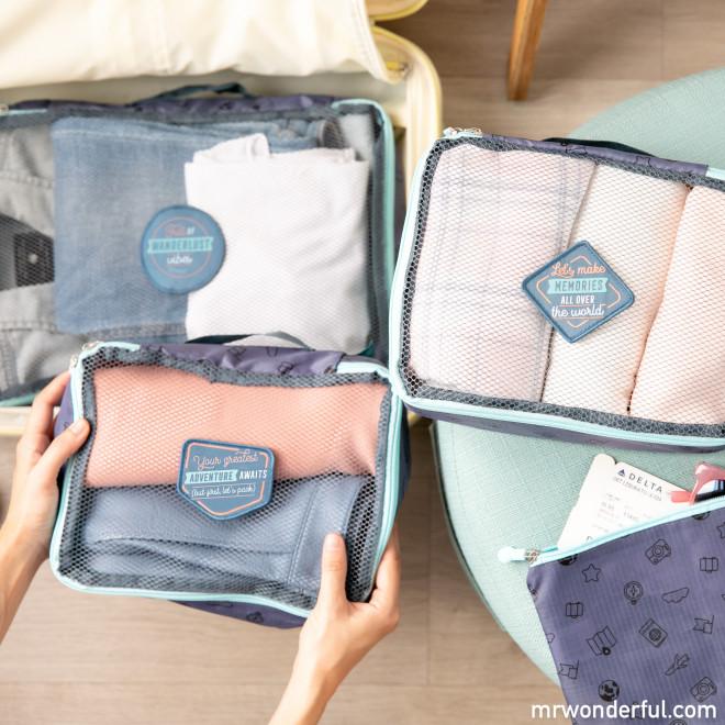 Set de 3 organizadores de equipaje + neceser - Greatest adventure