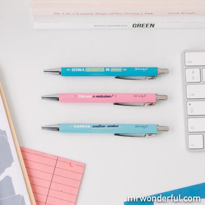 Set de 3 canetas - A abarrotar de ideias