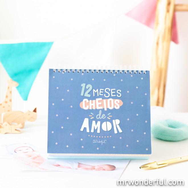 Conta meses - 12 meses cheios de amor
