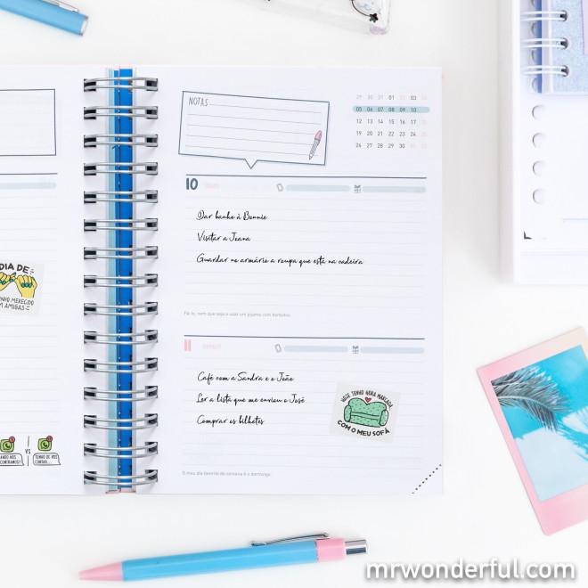 Agenda sketch 2020-2021 Vista diária - Sonha, planeia e aproveita