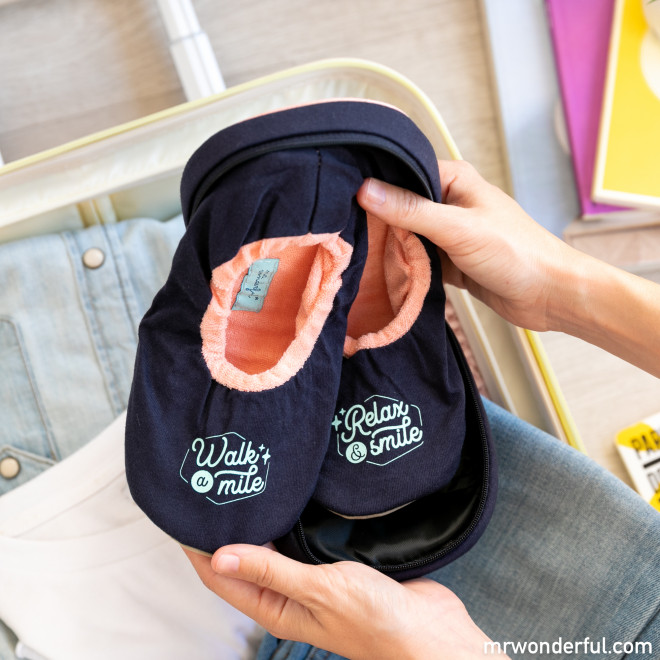 Foldable travel slippers to feel at home while travelling