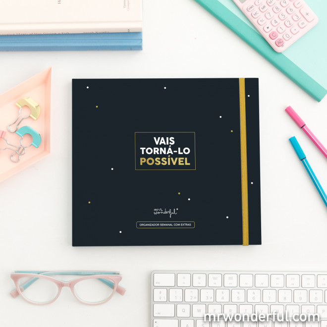 Organizador semanal com extras
