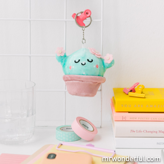 Porta-chaves peluche squishy - Cacto