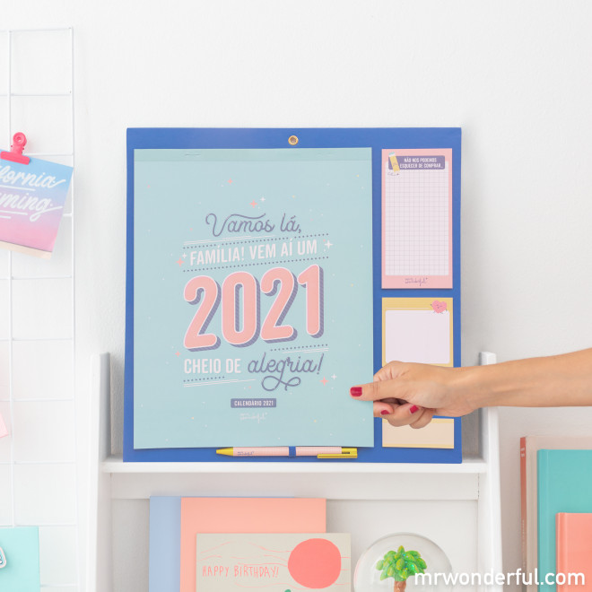 Calendário familiar 2021 Mr. Wonderful
