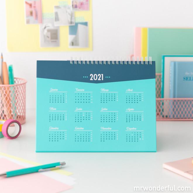 Calendário de mesa 2021 Mr. Wonderful