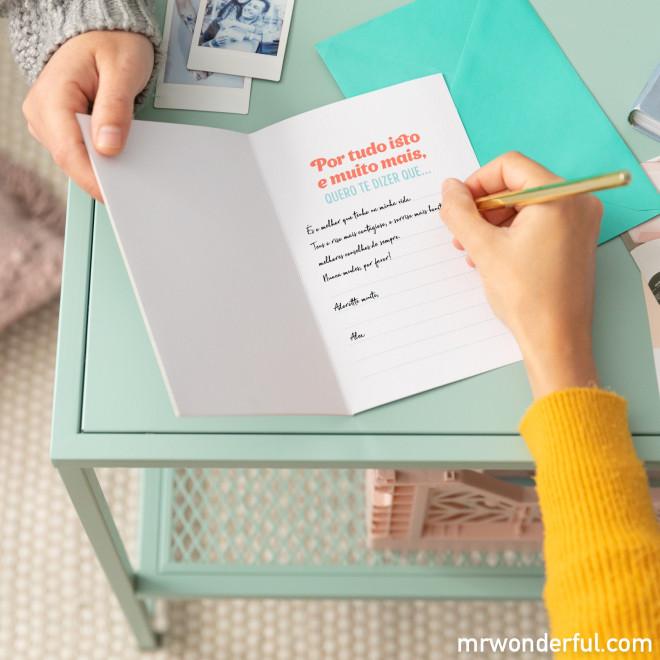 Cartão com mensagens secretas - 9 coisas que que megadoro...