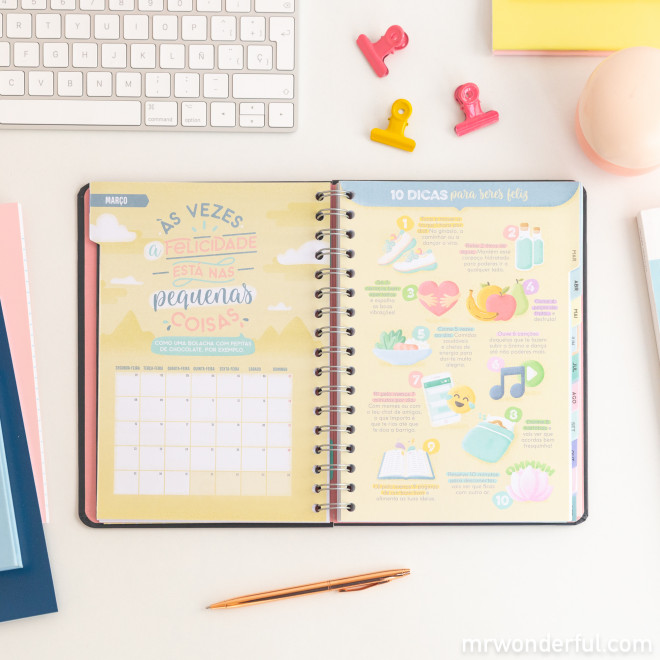 Agenda clássica 2021 Vista semanal - Enche-me de sorrisos, aventuras e sonhos realizados