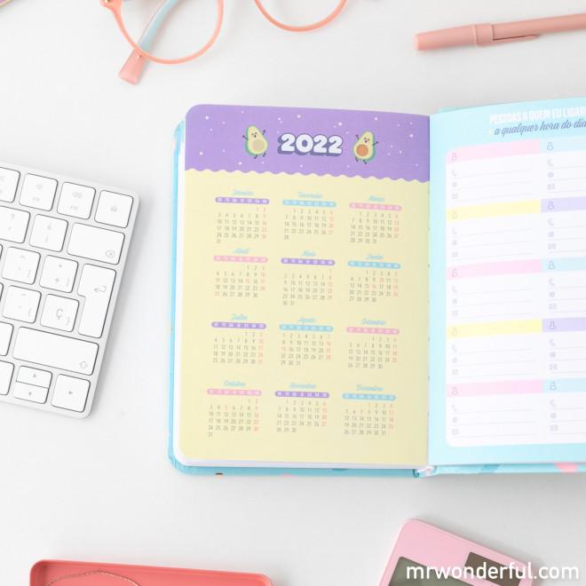 Agenda clássica pequena 2021 Vista diária - Este é o meu ano