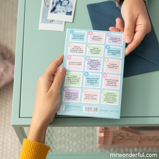 Postal com roleta para escolher planos