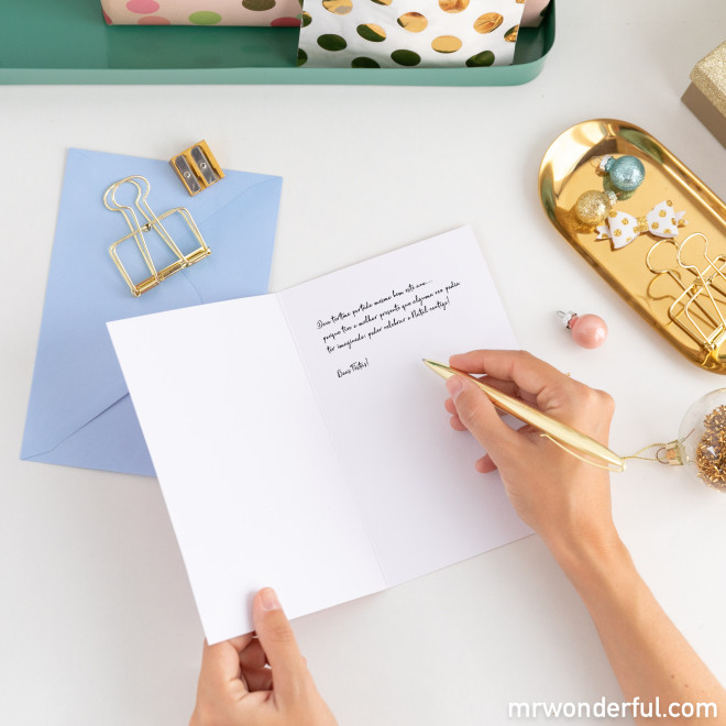 Postal - O melhor presente é ter-te presente