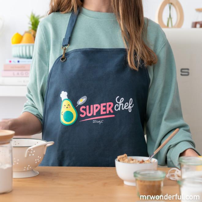 Set de delantales de adulto + niño - Superchef y Minichef