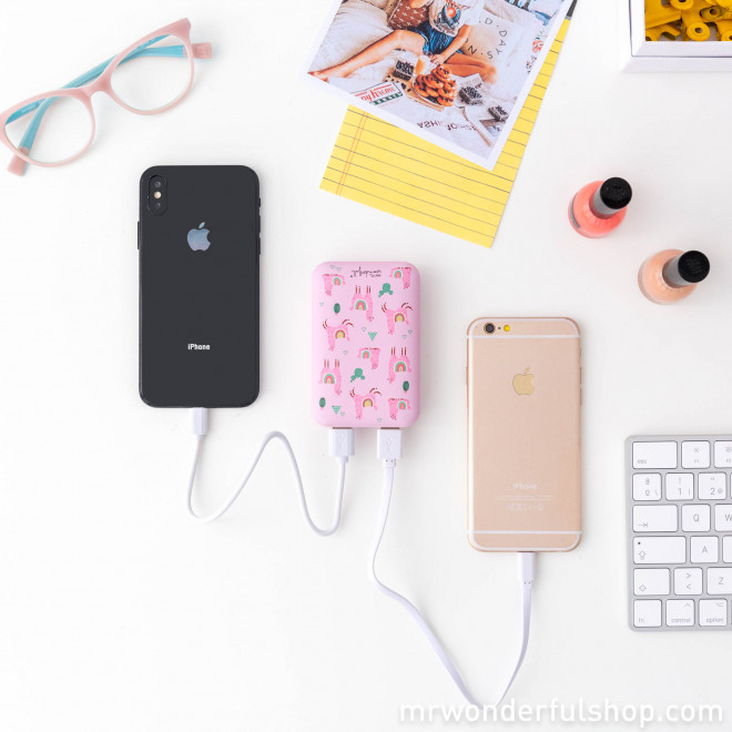 Power bank 6000 mAh - Llamas