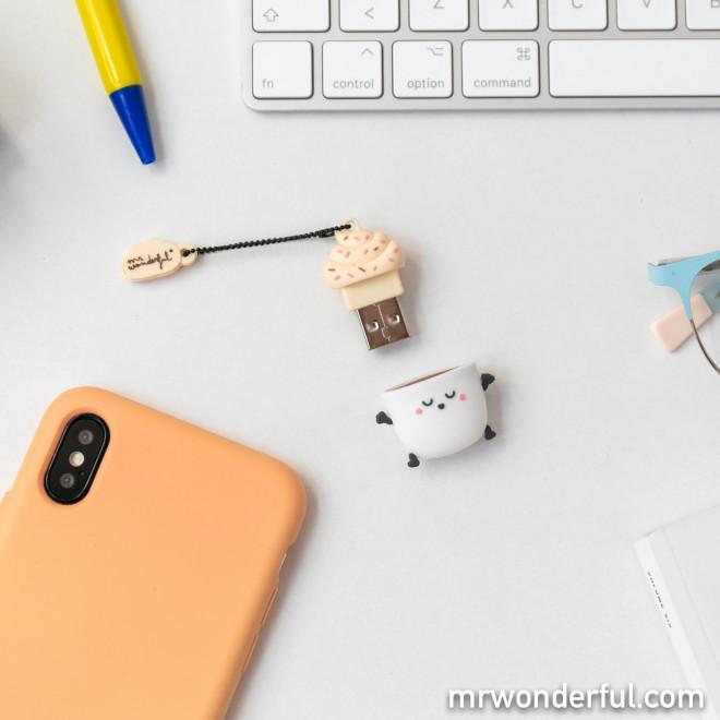 Memória USB 32 GB - Café