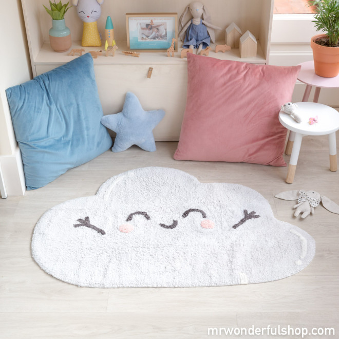 Alfombra lavable Lorena Canals - Silueta Happy Cloud