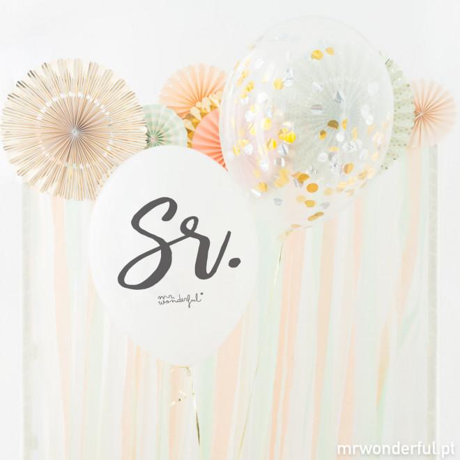 Balões para casamentos - Sr. e Sra. (PT)