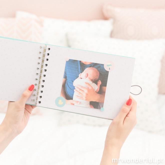Album para fotografias de bebes
