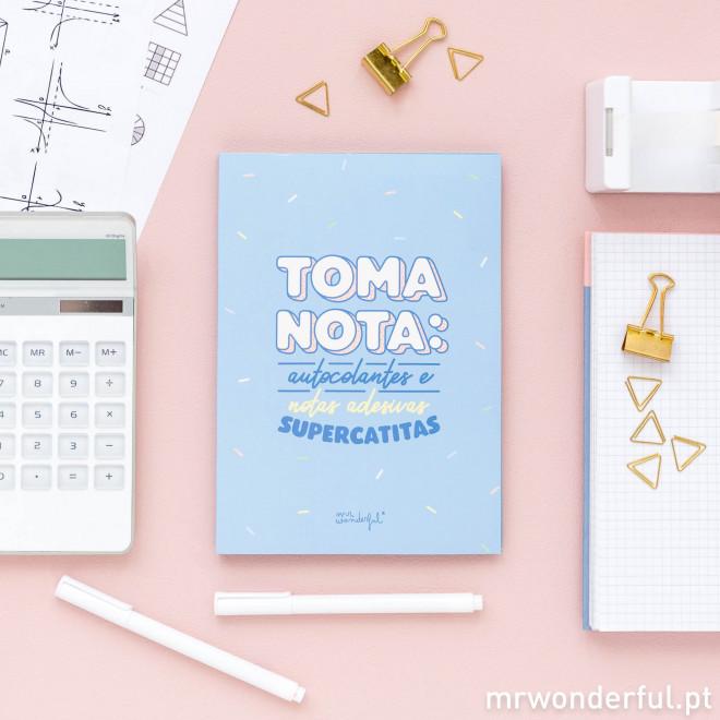 Caderno de autocolantes e notas adesivas supercatitas (PT)