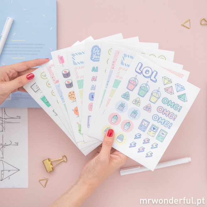 Caderno de autocolantes Mr.Wonderful