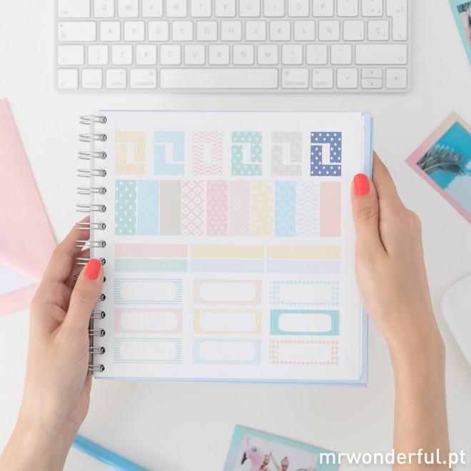 Organizador de estudo criativo