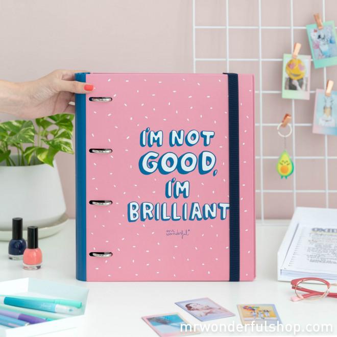 Dossier com argolas - I'm not good. I'm brilliant! (ENG)