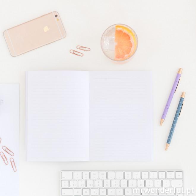 Conjunto de caderno + canetas - Notas e objetivos (PT)