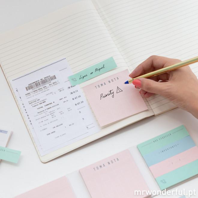 Bloco de notas e notas adesivas (PT