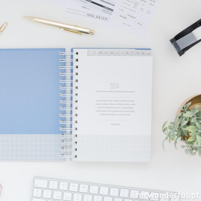 Caderno para guardar recibos – Nunca percas a vontade (nem os recibos e as faturas) (PT)