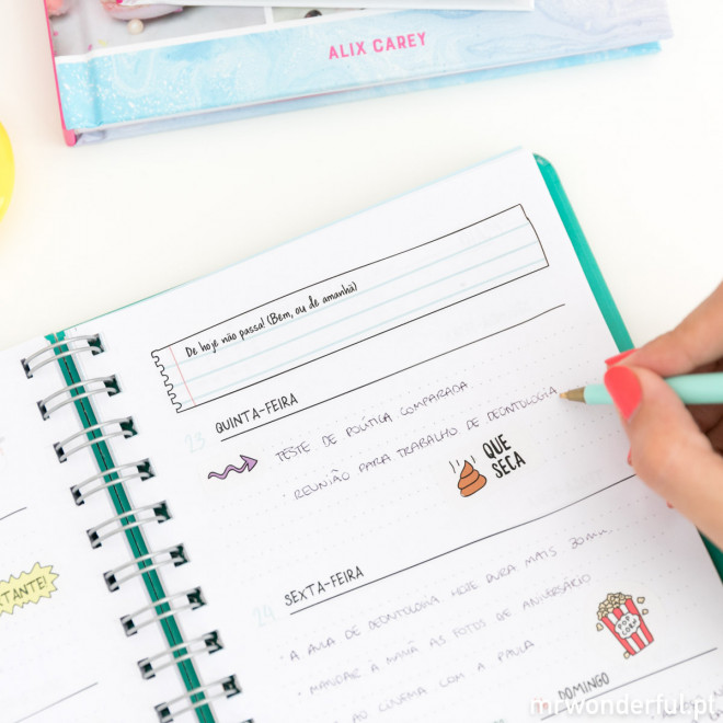 Agenda Anual Sketch 2019 Vista semanal - É hoje, sim ou sim  (PT)