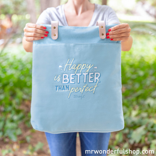 Saco de pano - Happy is better than perfect (ENG)