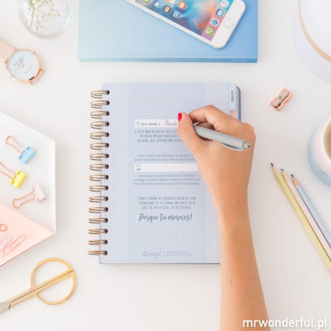 Agenda anual clássica 2019 Vista semanal - As mil e uma coisas que vou conseguir fazer (PT)