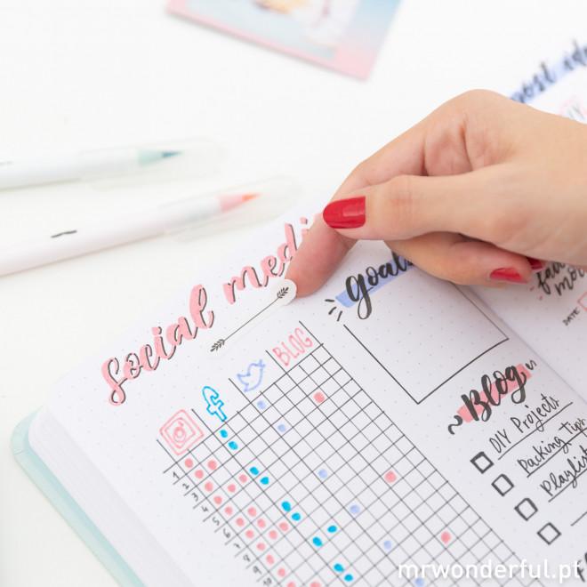 Agenda bullet - Planos, rascunhos e muitas ideias (PT)