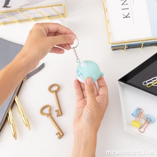 Porta-chaves narval - Tu és pura magia