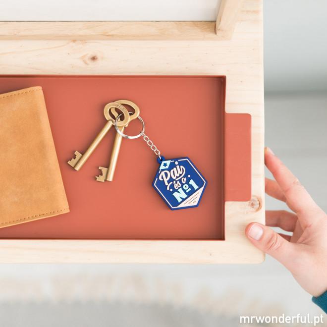 Porta-chaves - Pai, és o nº 1