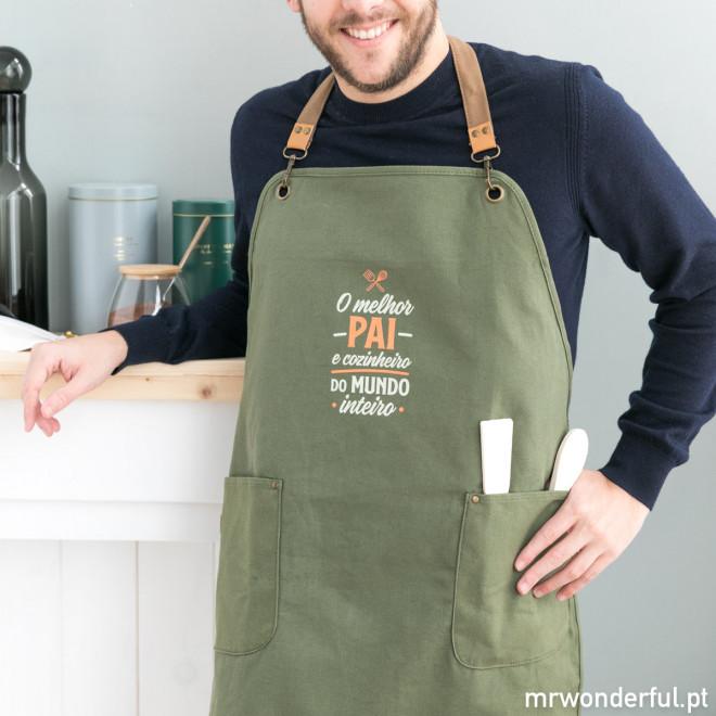 Avental - O melhor pai e cozinheiro do mundo inteiro