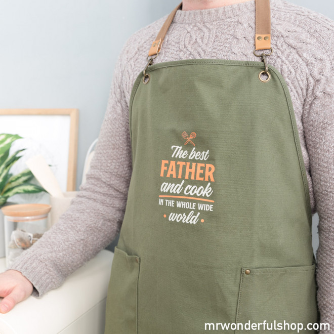 Apron - The best father and cook in the whole wide