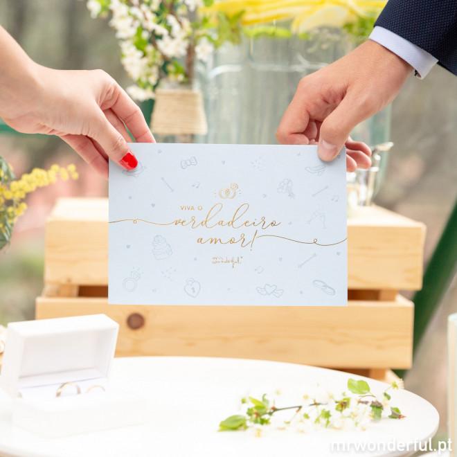 Pasta para prenda de casamento em dinheiro - Viva o verdadeiro amor!