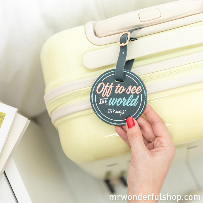 Set de funda para pasaporte y etiqueta para equipaje