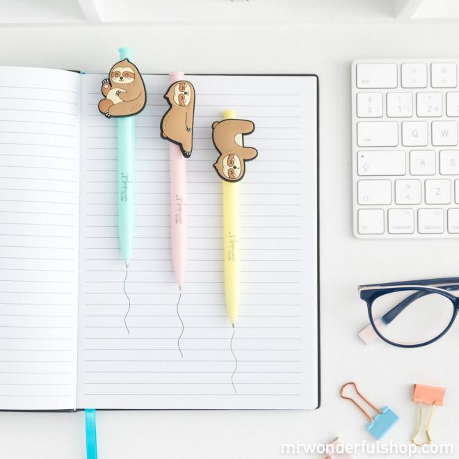 Pack de 3 canetas preguiças