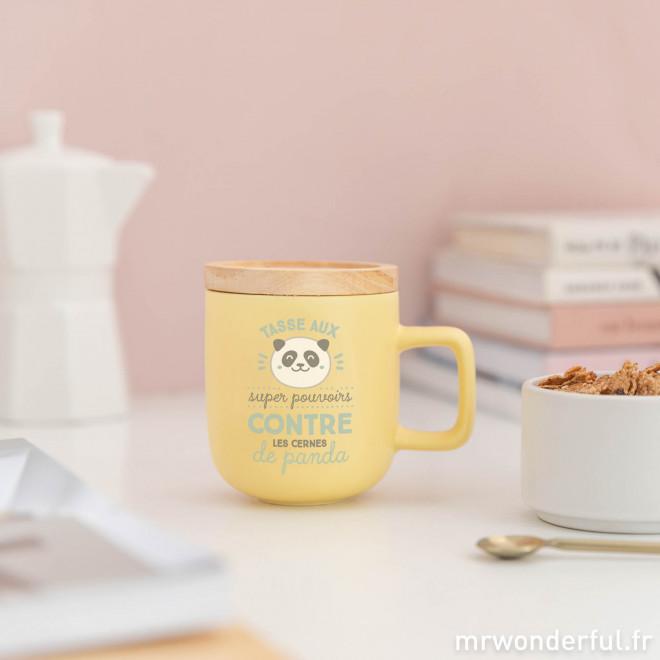 Mug - Tasse aux super pouvoirs contre les cernes de panda
