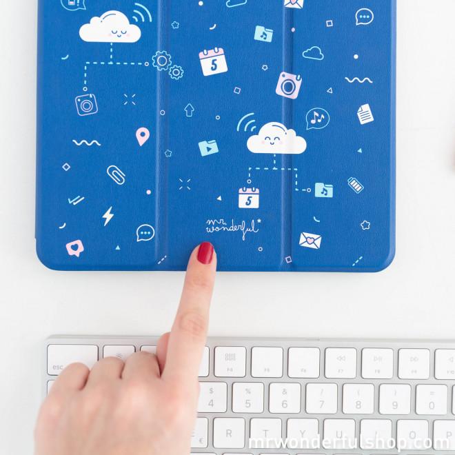 """Capa para iPad de 9,7"""" - Nuvem"""