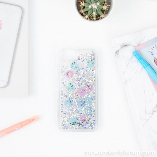 Capa transparente com purpurina para iPhone 6/7/8 - Rosquilhas