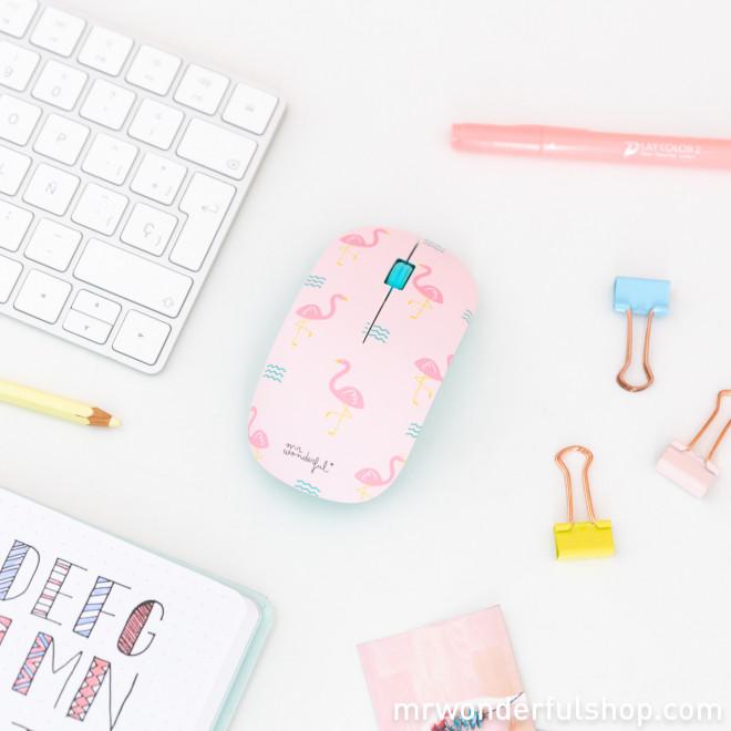 Rato sem fios com diferentes capas - Flamingos
