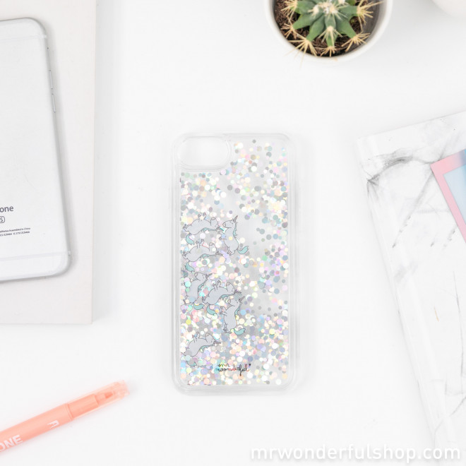 glitter case iPhone 6/7/8 - Unicorns