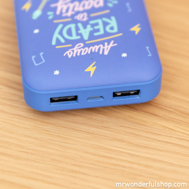 Power bank 10.000 mAh - Always ready to party (ENG)