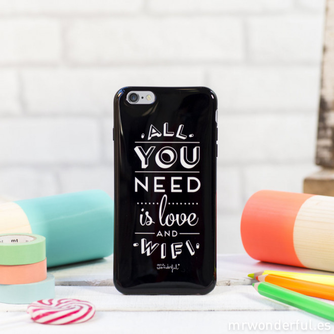 Capa para iPhone 6 Plus - All you need is love and Wifi