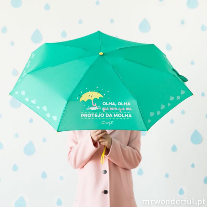 Guarda-chuvas pequeno - Olha, olha que bem que me protejo da molha (PT)