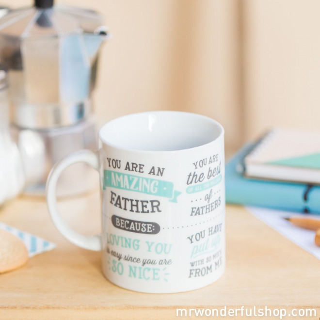 "Caneca ""You are an amazing father"" (ENG)"